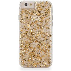 Karat iPhone 6 Plus Case ($54) ❤ liked on Polyvore featuring accessories, tech accessories, phone cases, phone, electronics, fillers and gold