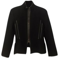 Pre-owned Faith Connexion Ref: 12w1201t2 Black Jacket ($259) ❤ liked on Polyvore featuring outerwear, jackets, black, faith connexion and faith connexion jacket