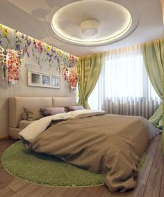 Bed room with our textile decoration.