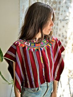 Mexican Serape Huipil >>> via Prism of Threads