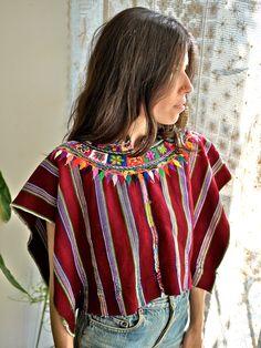 Mexican Serape Huipil >>> via Prism of Threads