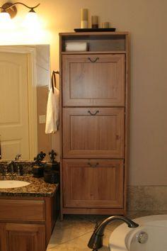 Bathroom storage from ikea shoe cabinet