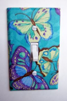 Cool Butterflies Single Toggle Switchplate by PopGoesTheColor, $6.95 #PROMOOASIS