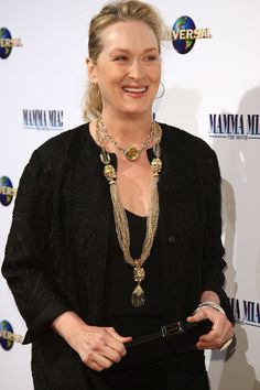 Actress and lead cast member Meryl Streep attends the Australian Premiere of…