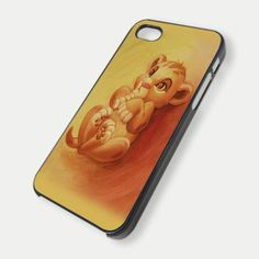Baby lion king simba for iPhone 4/4s/5/5s/5c, Samsung Galaxy s3/s4 case