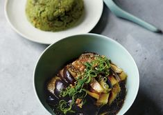 Fuchsia Dunlop, shares the easy-to-make cool steamed aubergine with dressing recipe. From Land of Fish and Rice.