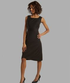 """Dress to flatter your body type.  This A-line is perfect for a """"pear"""" shape.  Check out the moi-meme.com website for ideas on designing for your body style."""