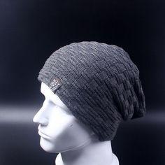 2d5af6004fc Casual Brand Men Winter Hat Beanie Hats Fur Warm Baggy Knitted Skullies  Bonnet Ski Sports Adult