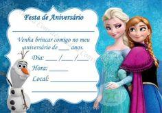 lindo modelo de convites de aniversário da Frozen