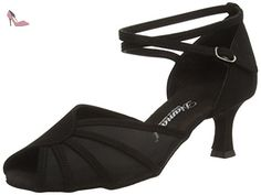 Diamant Damen Tanzschuhe 053-014-034, Chaussures de Danse de Salon Femme, Noir, 37 1/3 EU