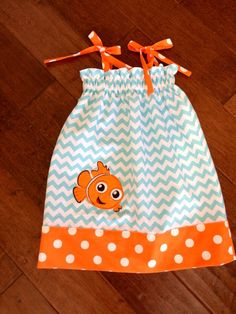 Disney inspired Sundress style pillowcase dress Finding Nemo