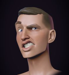 by Stephen Anderson Zbrush Character, 3d Model Character, Character Modeling, Character Art, Cartoon Faces, Cartoon Styles, 3d Cartoon, Character Design Animation, 3d Animation