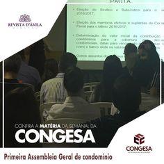 Na última terça-feira 18/4 o DUE empreendimento da Congesa teve sua primeira Assembleia Geral. Acompanhe na Revista DÁvila as matérias semanais da Congesa e também de todos os outros parceiros. http://ift.tt/1UOAUiP (link na bio).