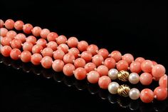 Vintage Chinese Natural Peach Coral Beads by SummitTreasures