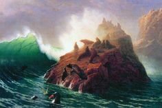 Seal Rock, California, by Albert Bierstadt