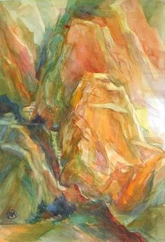 Make every brushstroke powerful! As The Sun Rises by Freda Lee-McCann, 15 x 21, watercolor on arches.