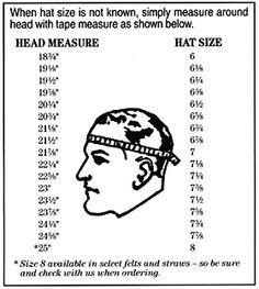 Head size   Hat size Cowboy Hat Bands e90845b087d