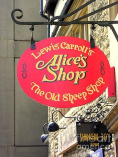Alice's Shop sign Oxford - lovely shop, i want to go back! With more money of course haha!!