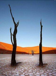 De Namiowoestijn, lijkt op een Savador Dali schilderij.