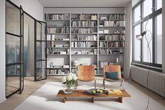 Inspiration platsbyggd bokhylla.