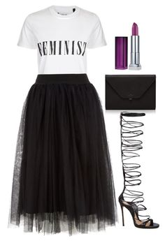 """Untitled #12"" by dominique-bibbs on Polyvore featuring Tee and Cake, Valextra, Dsquared2 and Maybelline"