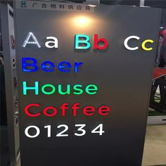 Factory Outlet Custom Outdoor advertising  Acrylic led signage channel letters Electronic Signs, Pvc Board, Channel Letters, Led Module, Make Color, Letterpress, Brand Names, Signage, Advertising