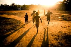 I'd be lying if I said this never got old, but when I wake up in a good mood, it's sort of fun getting chased by African children on my morning runs