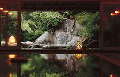 Infinity pools, pond gardens, and hot springs—luxury in Japan is .