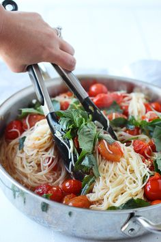 20 Minute Cherry Tomato and Basil Angel Hair: a quick first taste of summer (vegan).