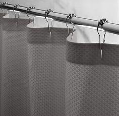 RH's Diamond Matelassé Shower Curtain:Pure cotton matelass&#233…