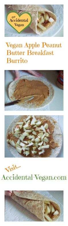 Apple Peanut Butter Wrap. Perfect for the rushing mornings, less guilt about eating in the car!