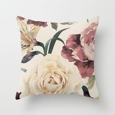Summer Flowers VII Throw Pillow by Kamina22 | Society6