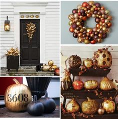 Halloween and Fall decor ideas with many pictures and sources. #autumn