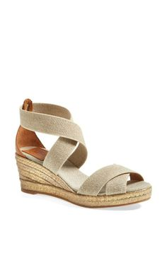 Packing these Tory Burch espadrilles for the weekend get-a-way! Love the braided wedge and easy stretch straps.