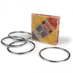 Want a way to get hooked on magic? Buy this set of magic linking rings -- they mysteriously join together, then separate with a snap of your fingers! $12.99 #magic #trick #magician