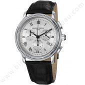 montre cuir noir chrono persuasion frederique constant   http://www.bijouterie-bassereau.com/nos-marques/marques-vendues-en-ligne/frederique-constant-1.html