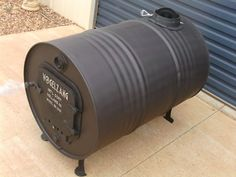 WOOD HEATER POT BELLY FIRE DIY KIT, 44 GALLON DRUM, SHED GARAGE BARREL STOVE