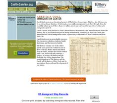 CastleGarden.org is an educational project of The Battery Conservancy. This free site offers access to an extraordinary database of information on 11 million immigrants from 1820 through 1892, the year Ellis Island opened. #gentipjar  #genealogy #immigration