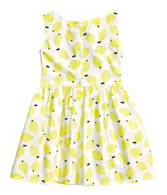 H & M lemon dress