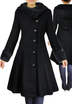 Side Button Velvet Coat with Hood by Amber Middaugh -Save 37% at Chicstar.com Coupon: AMBER37