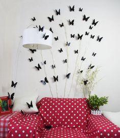 12pcs-Autocollants-3D-DIY-Papillon-Graphique-Sticker-Murale-Adhesive-Deco-Maison
