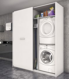 BC3 Cocinas Galeria Stacked Washer Dryer, Washer And Dryer, Laundry, Home Appliances, Crafts, Patio, Home Accessories, Kitchen Furniture, Kitchens