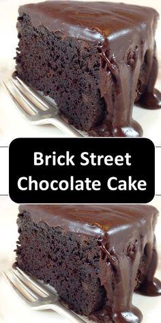 Brick Street Chocolate Cake >> >> >> >> The post Brick Street Chocolate Cake >> >> >> >> appeared first on Win Dessert. Cupcake Recipes, Cookie Recipes, Cupcake Cakes, Dessert Recipes, Quick Dessert, Cupcakes, Ultimate Chocolate Cake, Amazing Chocolate Cake Recipe, Chocolate Flavors