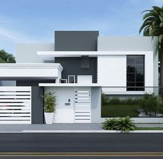 most amazing modern house exterior design ideas 37 > Fieltro. Modern House Colors, Modern House Design, Dream House Exterior, Exterior House Colors, Modern Exterior, Exterior Design, Exterior Paint, Bungalow Haus Design, House Front Design