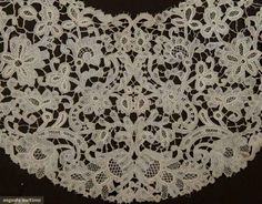 FOUR HANDMADE LACE COLLARS, 19TH C