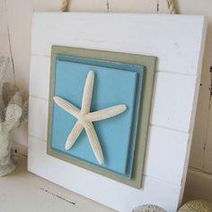 Notleidende weiße Starfish Plank Wandkunst on Etsy, 36,94€