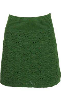 Knit skirt Spiral naps