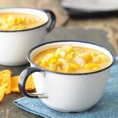 Creamy and Comforting Corn Chowder From Better Homes and Gardens, ideas and improvement projects for your home and garden plus recipes and entertaining ideas.