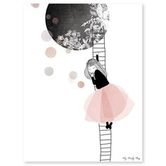 Lámina la niña y la escalera