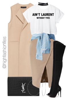 """Word"" by highfashionfiles ❤ liked on Polyvore featuring Zara, Yves Saint Laurent, Gianvito Rossi, Lamoda and Phyllis + Rosie"